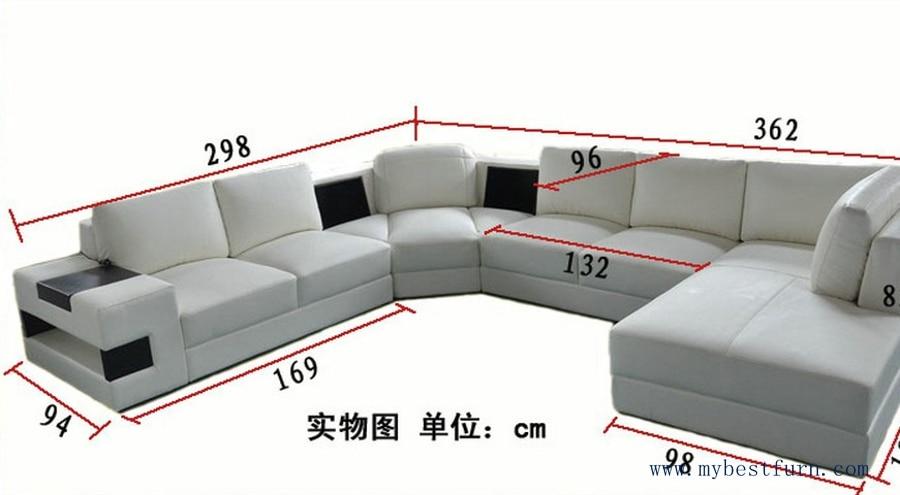 My BestFurn Sofa European Design, U Shaped Genuine Leather Sofa Set, Modern  Best Living Room Furniture S8630 In Living Room Sofas From Furniture On ...