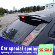 brake Red light big spoiler For Ford Focus 2007 2008 2009 2010 2011 2012 2013 high quality ABS rear wing for