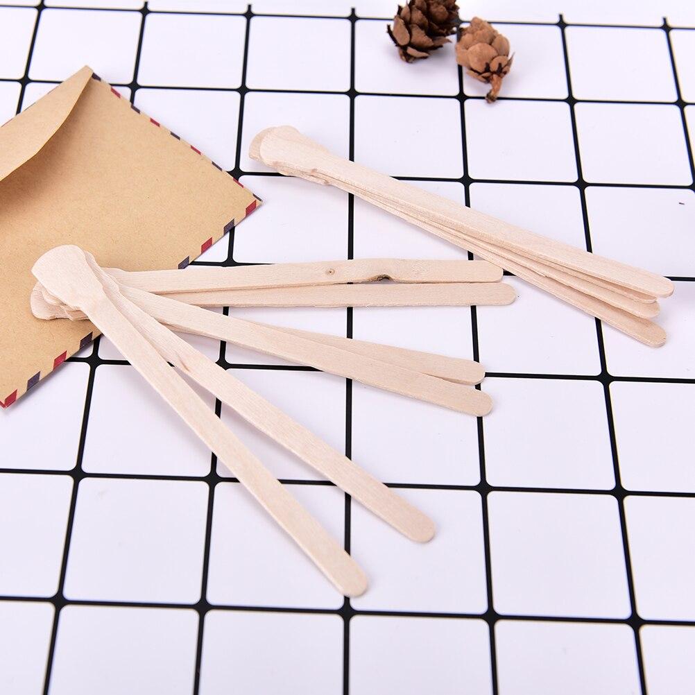 10 Teile/paket Körper Haarentfernung Stick Wachs Waxing Einweg-sticks Schönheit Kulturbeutel Kits Holz Zungenspatel Spachtel Bambus-sticks In Den Spezifikationen VervollstäNdigen