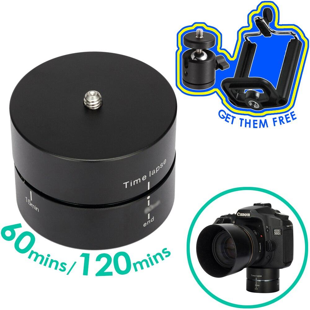 Sincronismo de Alumínio fotografia Panorâmica 360 Graus de Rotação Câmera de Lapso de Tempo Gopro Tripé Adaptador de Cabeça Para Canon Nikon DSLR