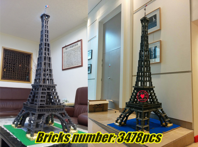 NEW Street Creator Eiffel Tower Model Building block model Bricks kit Toys boy 10181 Compatible legoes kid gift set creator city lepin 16008 creator cinderella princess castle city 4080pcs model building block kid toy gift compatible 71040