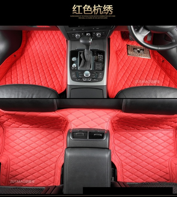 0c76fa2c58 No odor right steering wheel RHD right hand drive waterproof non slip  carpets car floor mats for AudiA5 Q5 Q7 A6 A8L