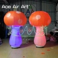 Замечательный Надувное со светодиодной подсветкой гриб украшение, воздух, модель гриба для вечеринок или события