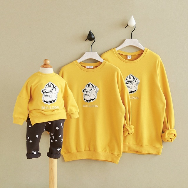 infant girls sweatshirt hoodies christmas sweaters mother son outfits father baby clothes pajamas angry dog french