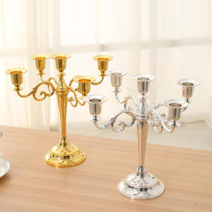 Candle-Holder Wedding Metal Wholesale Black/bronze 5-Arms/3-Arms