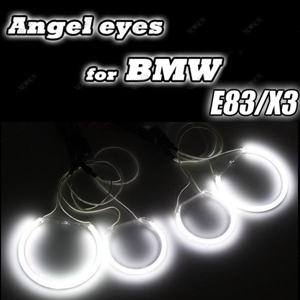 Factory Supply headlight ccfl angel eyes for bmw x3 e83,ccfl auto car lights with 4 halo rings and waterproof inverters 4pcs set car 6 color optional headlight ccfl angel eyes halo rings kits for lada vaz 2109 fd 1274