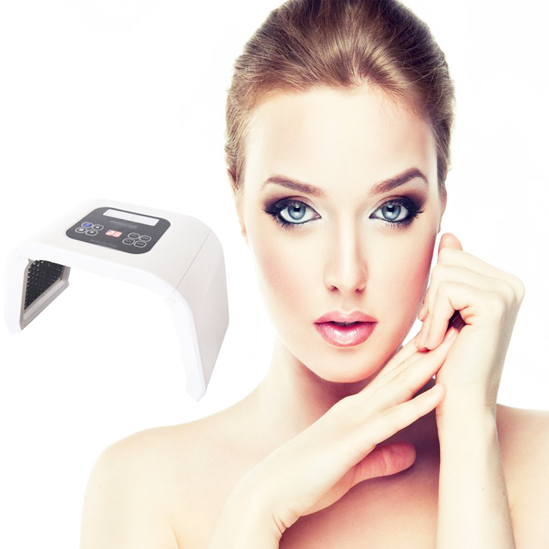 4 Color LED PDT Light Skin Care Beauty Machine LED Facial SPA PDT Therapy For Skin Rejuvenation Acne Remover Anti-wrinkle pdt led light therapy instrument skin rejuvenation wrinkle removal acne scars treatment facial face skin care beauty device set