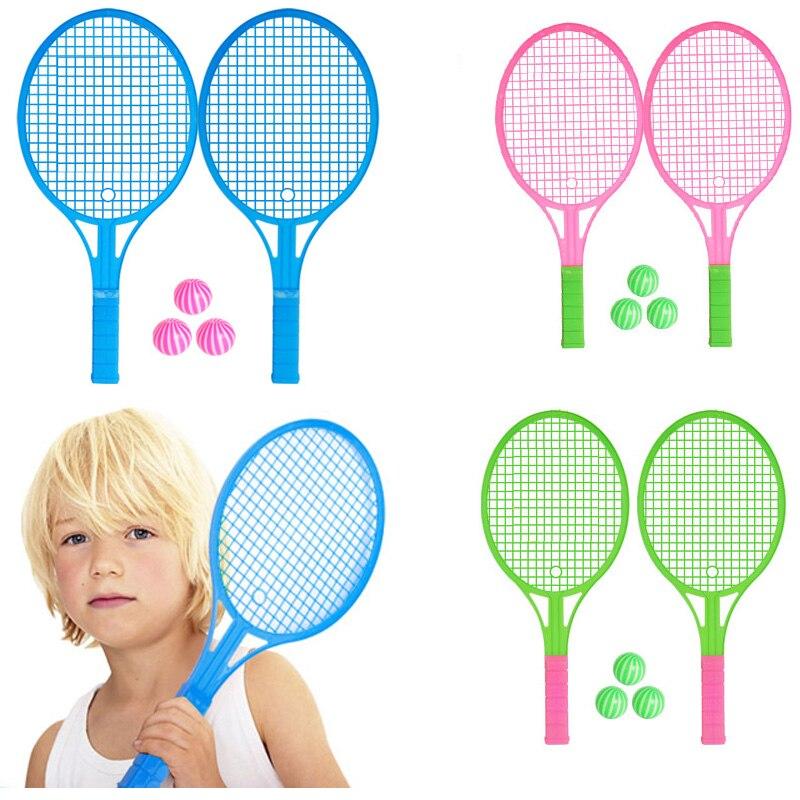 2 Stks/paar Nieuwe Kleuterschool Kinderspeelgoed Badminton Racket Tennisracket Speelgoed Ouder-kind Sport Pak Gift Speelgoed Goedkope Verkoop