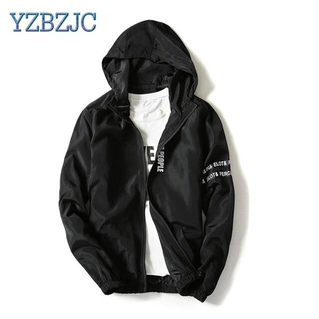 7814e0c6c0a YZBZJC Spring Wind Breaker Jacket Men clothing Sportswear Men Fashion Thin  Windbreaker Jacket Zipper Coats Hip Hop Black Gray