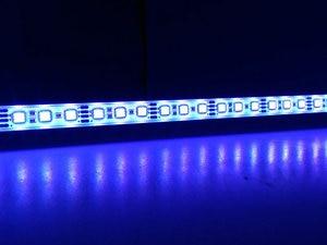 Image 5 - Barra de luz LED RGB de 5050, 50cm, IP68, SMD36LED, tira rígida de LED para piscina, cc 12V, con adaptador de corriente de interruptor