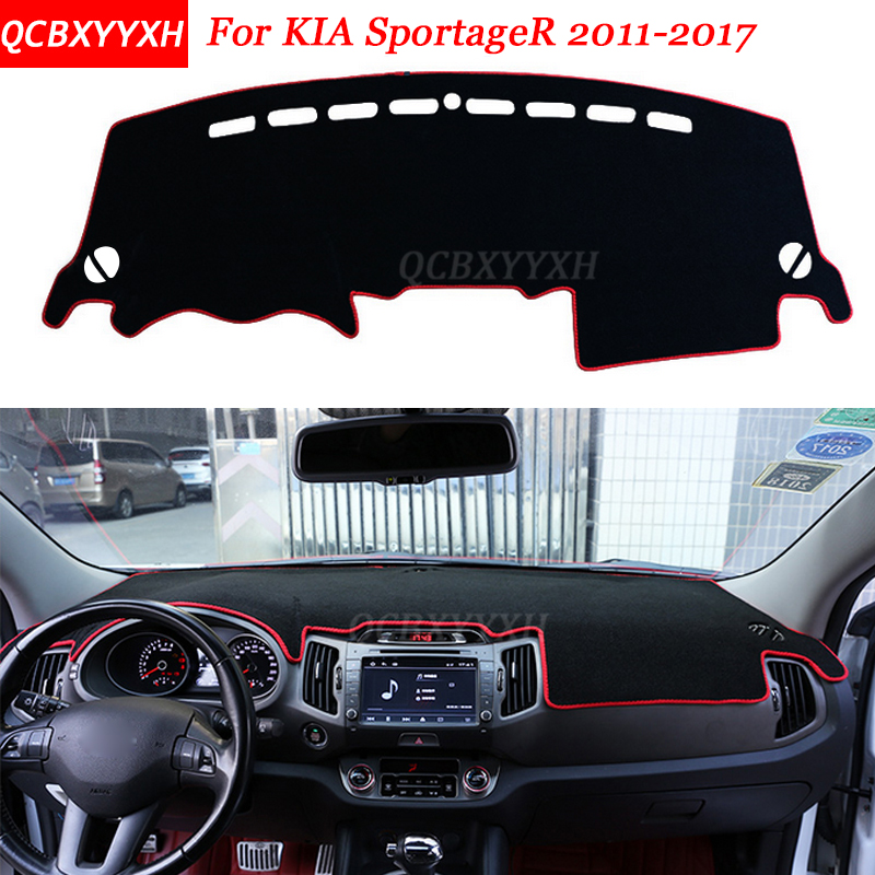 Car Styling Dashboard Avoid Light Pad Polyester For KIA SportageR 2011 2017 Instrument Platform Desk Cover Protective Mats