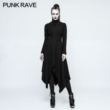 2017 new style punk rave gothic witch asymmetric casaco feminino female coat long jacket opy-217
