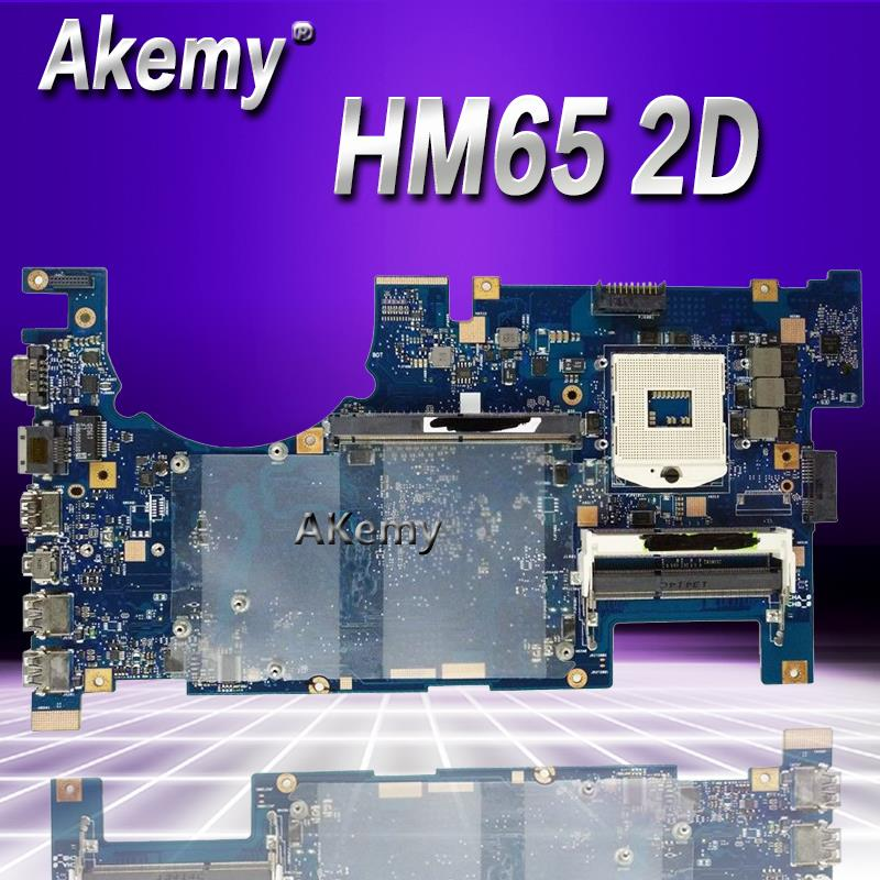 Akemy G75VX Laptop motherboard for ASUS G75VX G75VW G75V G75 Test original mainboard 2D