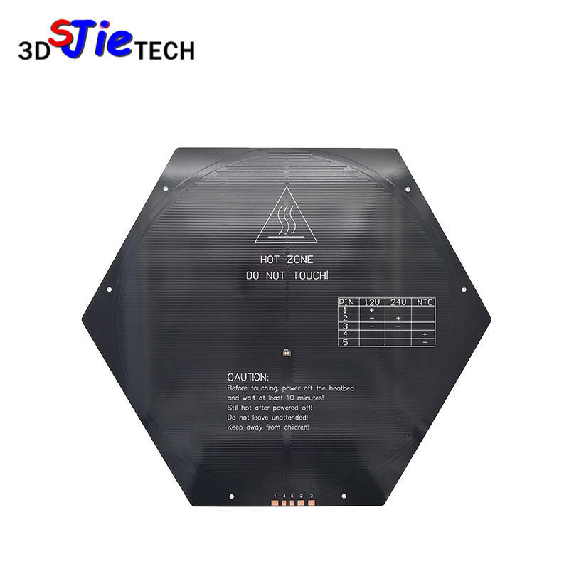 Diameter 265mm 3d Printer Rostock Kossel Delta Hex Round Heated Bed Pcb 12v/24v 120w Thickness 3mm For Mk3 3d Printer Parts Fashionable And Attractive Packages 3d Printers & 3d Scanners