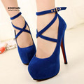 Koovan Women Pumps 2017 New Fashion Women Super High Heels 14 Cm Fine With Sexy Shoes Princess Woman Pumps Big Size 42