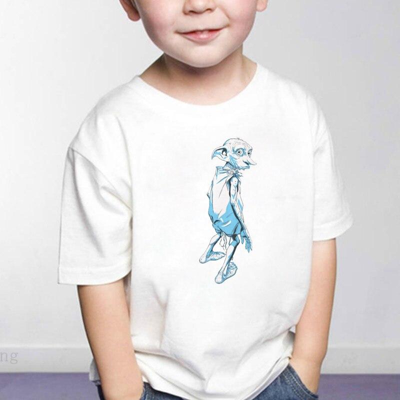 DERMSPE 2019 Kids Children Boys Girls T shirt Print Cartoon Baby Clothing Summer Cartoon Boys Short Sleeve Cotton T shirts(China)