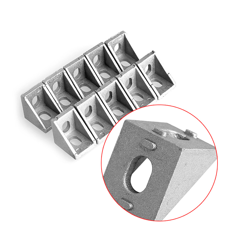 10 Pcs Aluminum Brace Corner Joint Right Angle Bracket Joint 20x20mm L Shape New 10 pcs lot silver color metal corner brace right angle l shape bracket 20mm x 20mm home office furniture decoration accessories