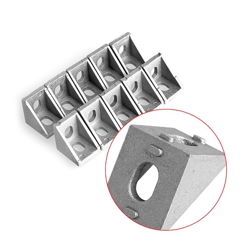 10 Pcs Aluminum Brace Corner Joint Right Angle Bracket Joint 20x20mm L Shape New 100 20x20mm p06707