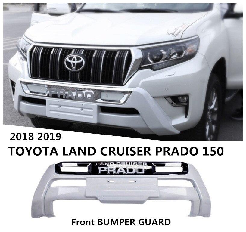 Paragolpes delantero guardia para TOYOTA LAND CRUISER PRADO 150 2018 2019 difusor protector placa de deslizamiento accesorios de automóviles de alta calidad