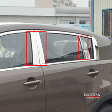 цена на Car-Styling For Kia SPORTAGE QL 2016 2017 2018 Window Pillar Post Covers Trim Molding External Decoration Stainless Accessories