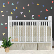 70Pcs Triangles Shape Wall Stickers On The Colorful Home Decor Decals For Kids Room Nursery Version Geometry Vinyl Art