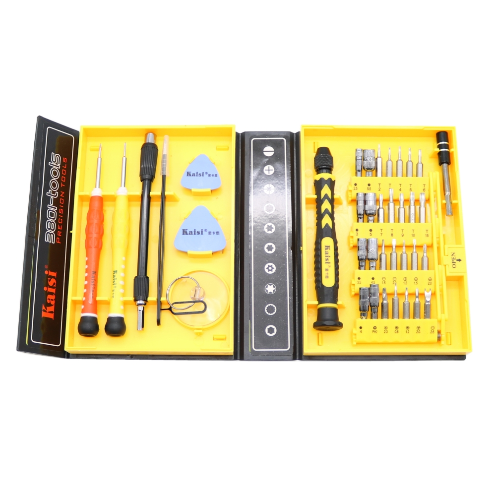 цена на Kaisi Brand 38 in 1 Screwdriver Set Precision Repair Tools Kit S2 Alloy Steel Material Tool for Cell Phone iPhone for Notebook