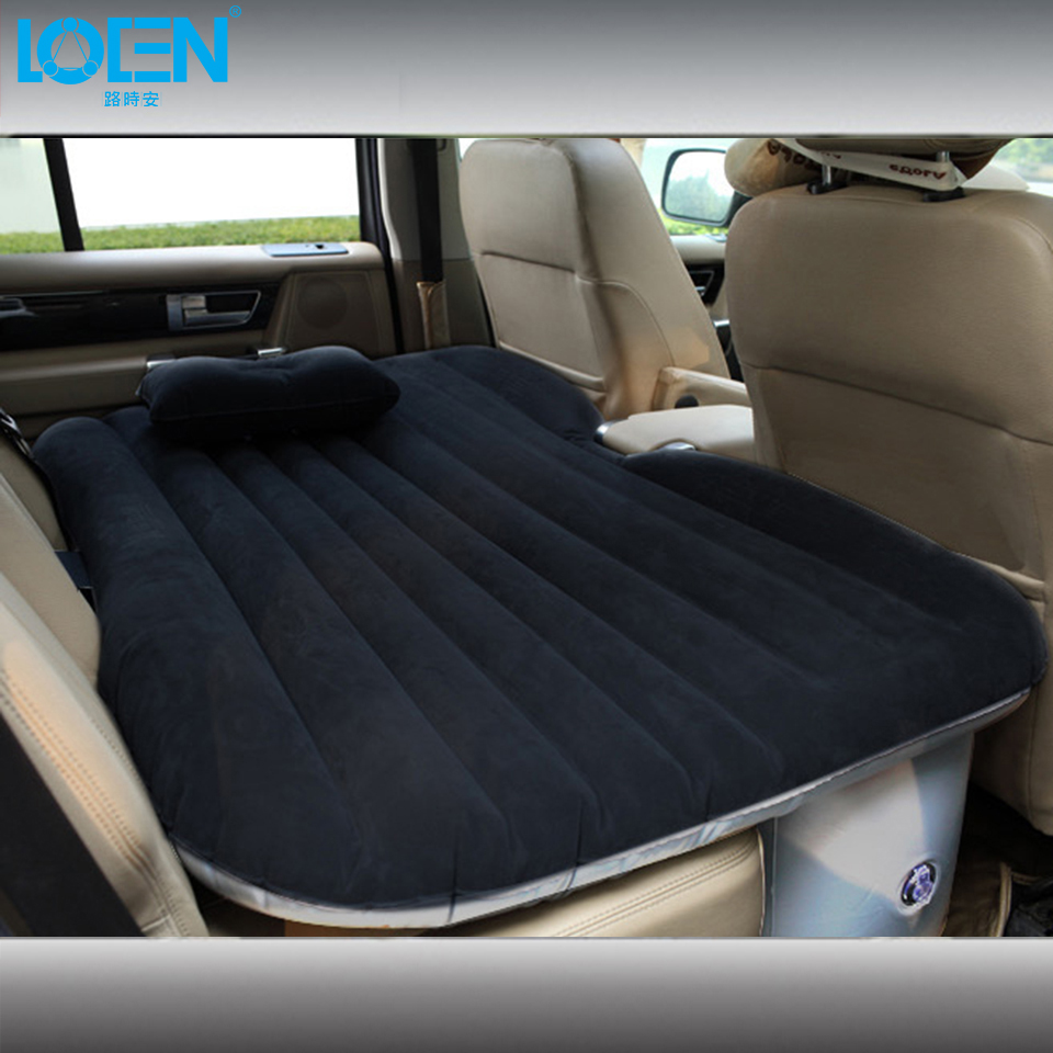 PVC flocking Plush SUV Universal Car Travel Inflatable Mattress Inflatable car Sex bed Camping Sleeping Cushion free shipping