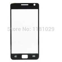 5pcs/lot Black white Galaxy S2 LCD replacement Touch Outer top Glass Lens Screen For Samsung Galaxy SII i9100  Glass With Logo