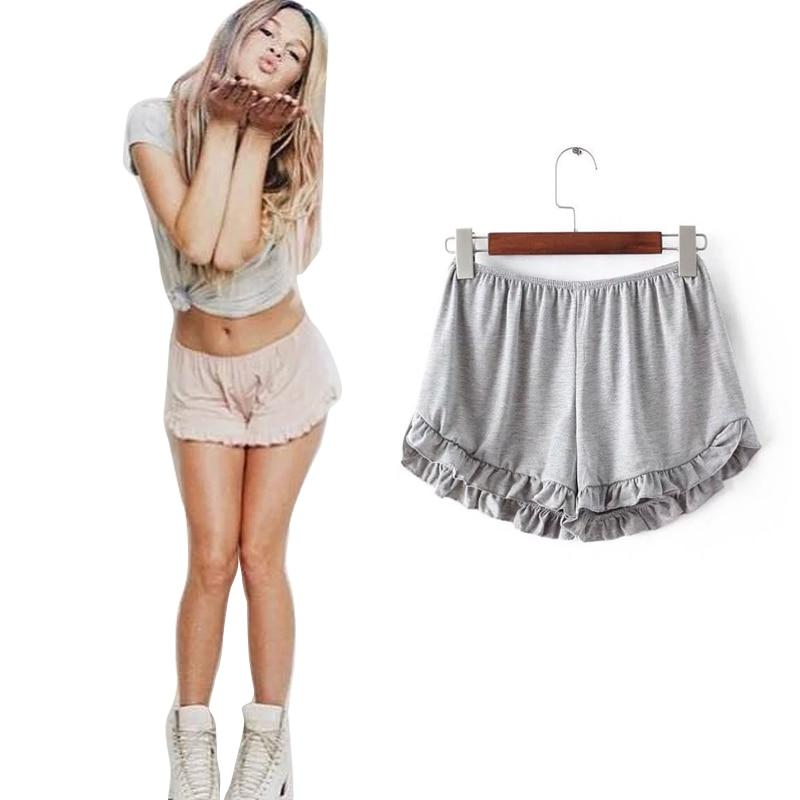Cute Elastic Shorts Women Ruffles Shorts Female 5 Colors High Quality Women Shorts Beach Summer Short Lady