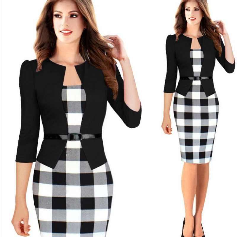 女性のスプライススカートスーツ夏ファッションエレガントなハーフスリーブブレザースカートオフィスインタビュースリム気質のドレスのスカート