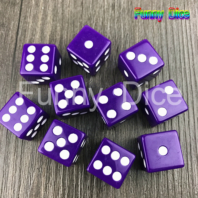 10PCS set Solid Color 16mm Gaming Dice Standard Six Sided Decider Die RPG  for Parties Toys 932d1fbf3f05