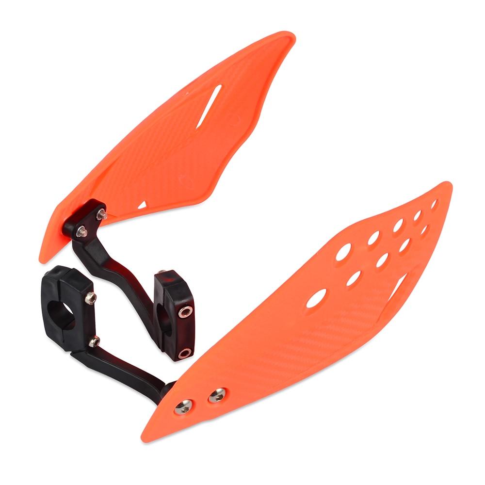 """Мотоцикл 7/"""" 22 мм щетка для рук Защита для Kawasaki KX100 KX125 KX250 KX300 KX450 KX500 KX250F KX450F - Цвет: Orange"""