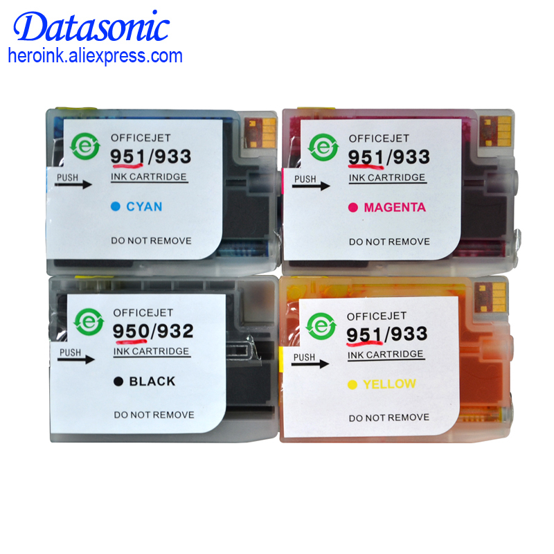 Dat full ink with chip for HP 950 XL 951 refill ink cartridge for Hp 8100 8600 8610 8620 8630 8640 8660 8615 8625 251dw 276dw for hp 951 951xl magenta ink cartridge for hp officejet pro 8100 8610 8620 8630 8600 8660 8640 8680 8615 printer