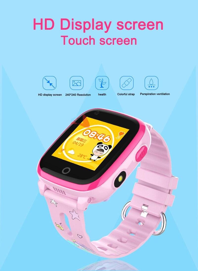 4G Camera GPS Watches WI-FI Kids Children Students Smart Wristwatch Sim Card/SOS/Video Call/ Monitor Tracker Location Waterproof 3
