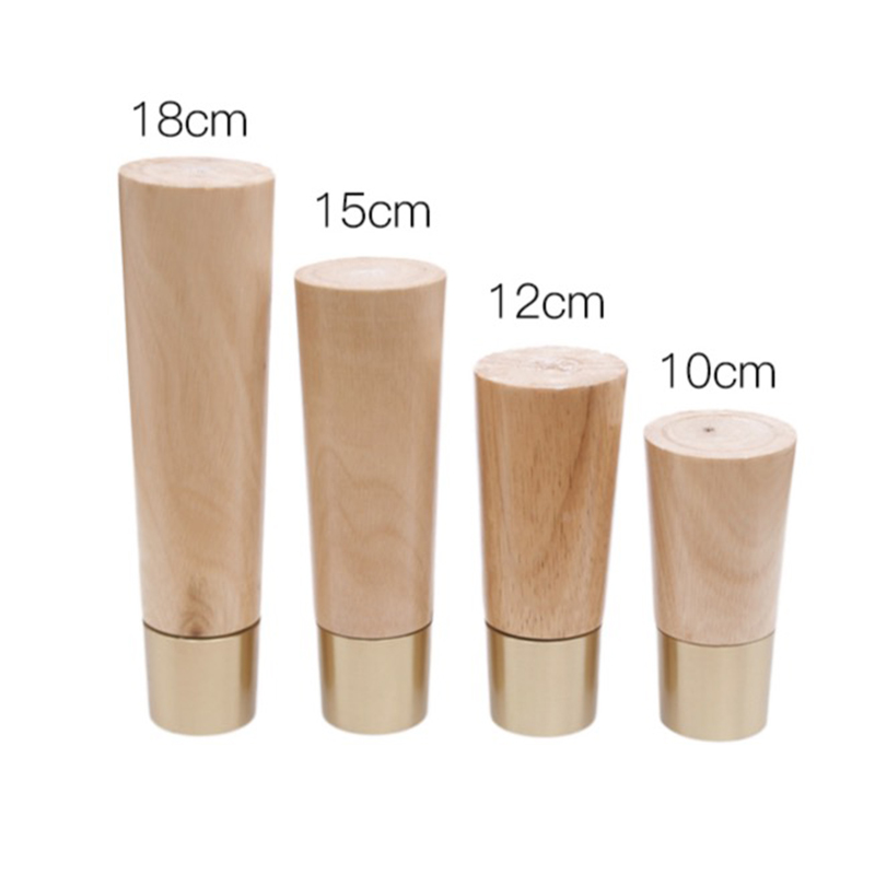 Solid Wood Furniture Foot Nordic Style Table Legs Sofa Bed Legs TV Cabinet Feet Furniture Parts 4PCS