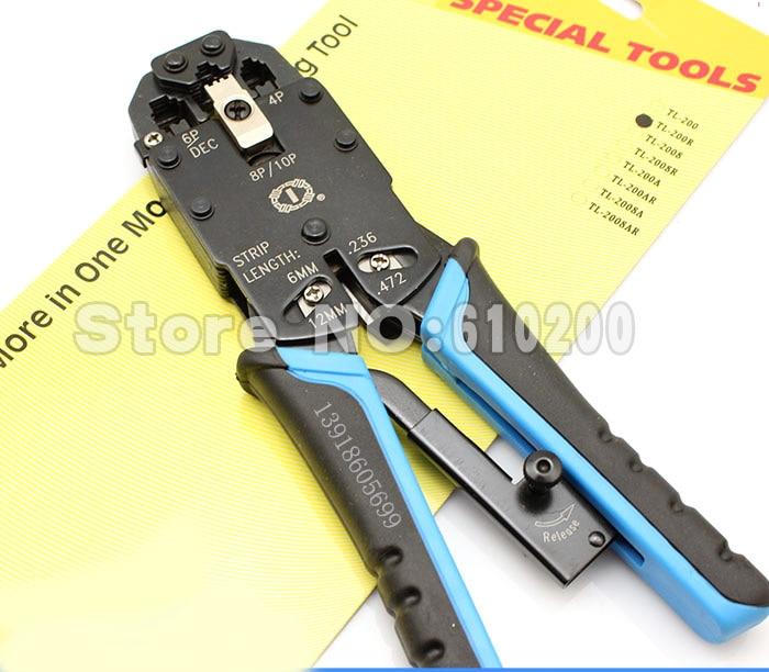 ᗖFree shipping TL-200R Network Crimping Tool RJ45 RJ11 RJ12 Wire ...