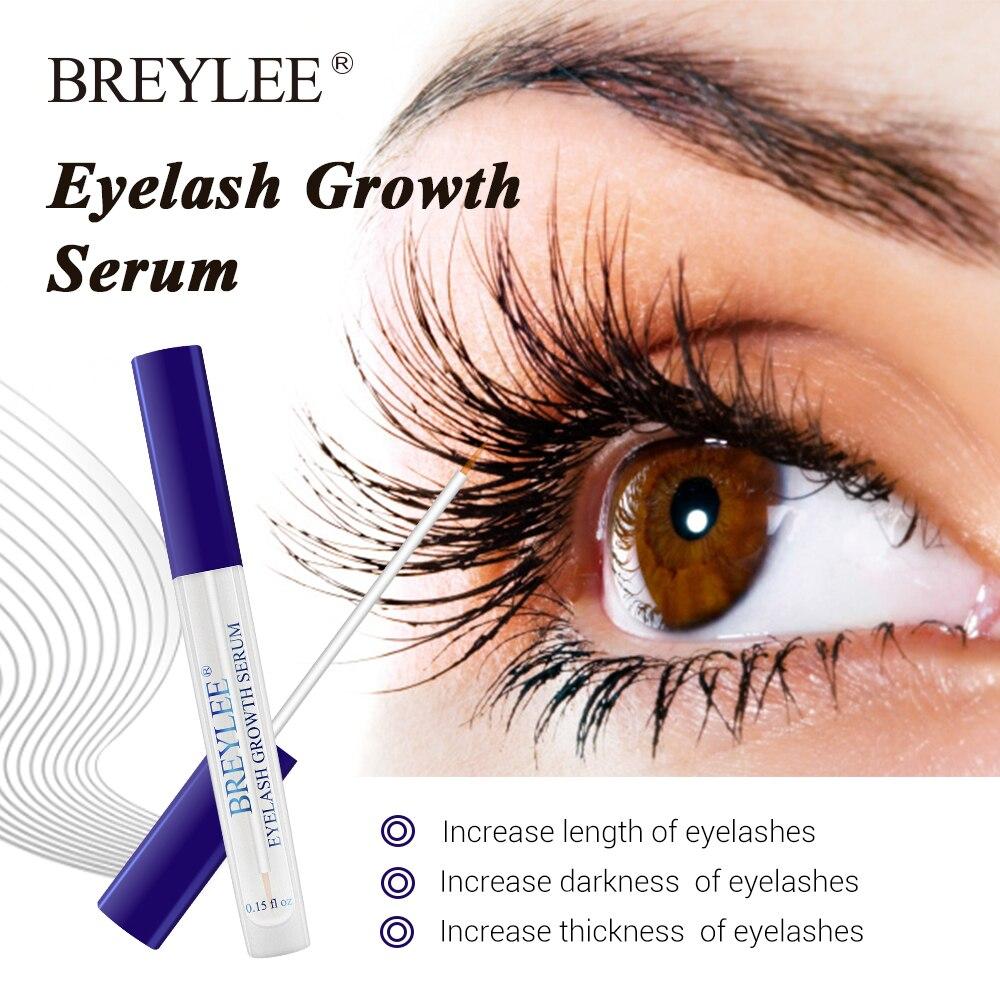 a4dea5f0348 BREYLEE Eyelash Growth Serum Eyelash Enhancer Eye Lash Treatment Liquid  Longer Fuller Thicker Eyelash Extension Makeup
