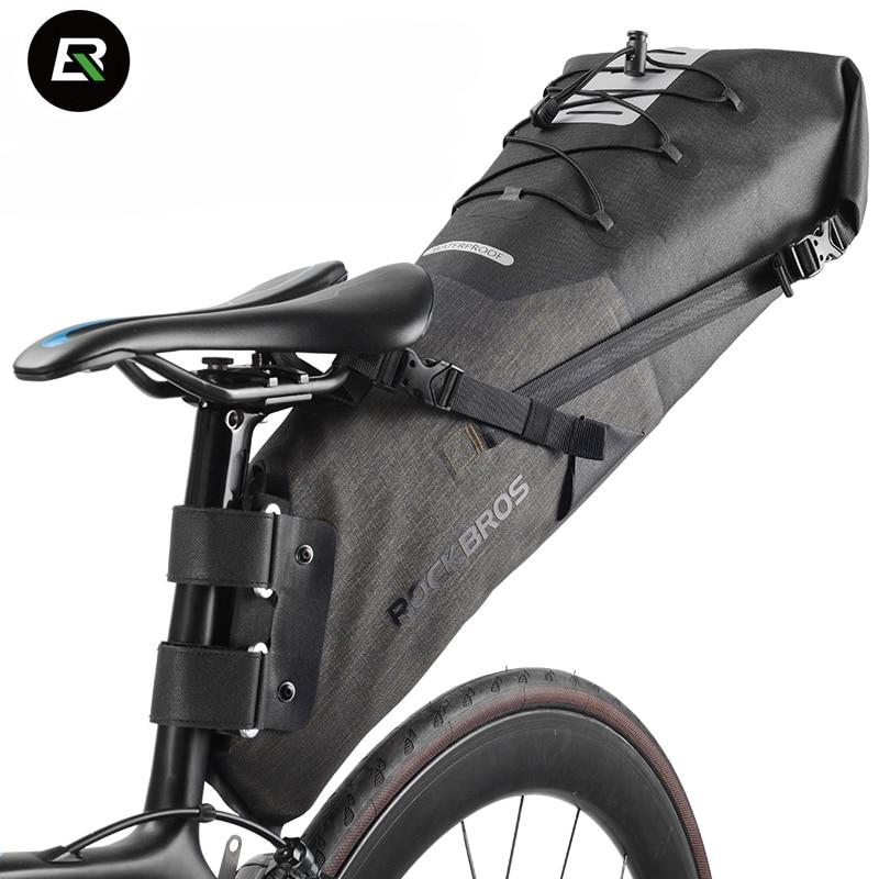 Rockbros Mountain Road Bike Bag 8-14L Waterproof Bicycle Bag Cycling Rear Seat Saddle Bag Bike Accessories Bolsa Bicicleta стоимость