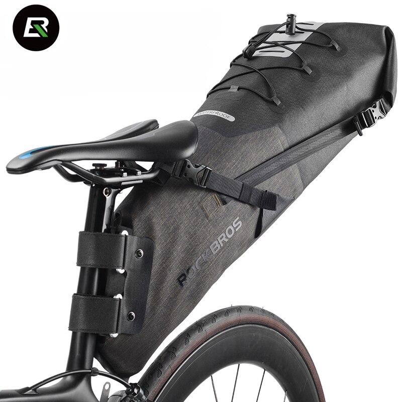 Rockbros sac de vélo de route de montagne 8-14L sac de vélo vtt étanche vélo siège arrière sac de selle accessoires de vélo Bolsa Bicicleta