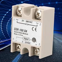 Solid State Relay SSR-100DA Relay 3-32VDC Input 24-380VAC Relay Rated Voltage 100A Current