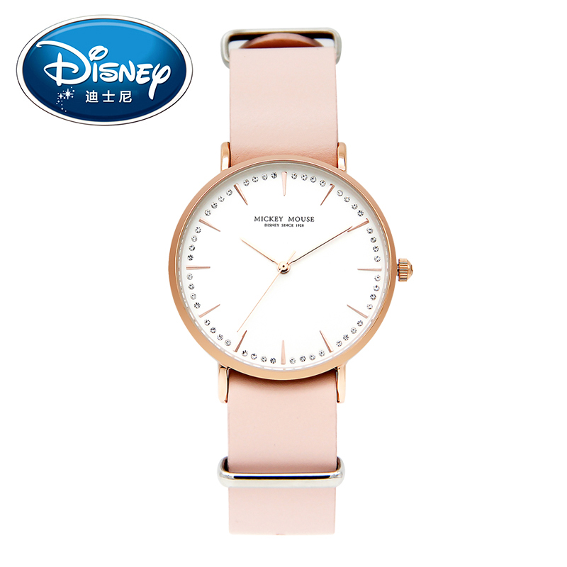 Disney Women Ladies Watches Clock Brand Simple Quartz Children Watch Fashion Cute Wristwatches Girls Mickey Mouse Gift Leather kids watches children silicone wristwatches doraemon brand quartz wrist watch baby for girls boys fashion casual reloj