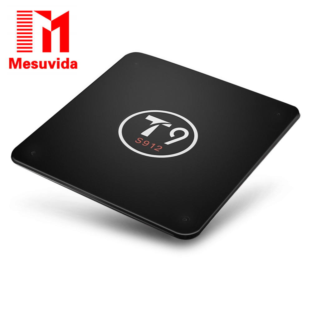 Mesuvida S912 T9 Android 6.0.1 4K Smart TV Box BT4.0 2G RAM 16G ROM 5G Wifi Set-top Box Airplay Miracast DLNA Smart Media Player mesuvida kiii android 5 1 1 tv box amlogic s905 2g 16g dual wifi dlna airplay xbmc quad core uhd 4k 3d miracast set top box