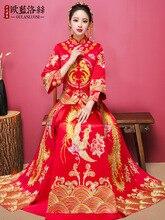 Show Wo clothing bride 2019 new toast wedding Chinese dress show kimono female