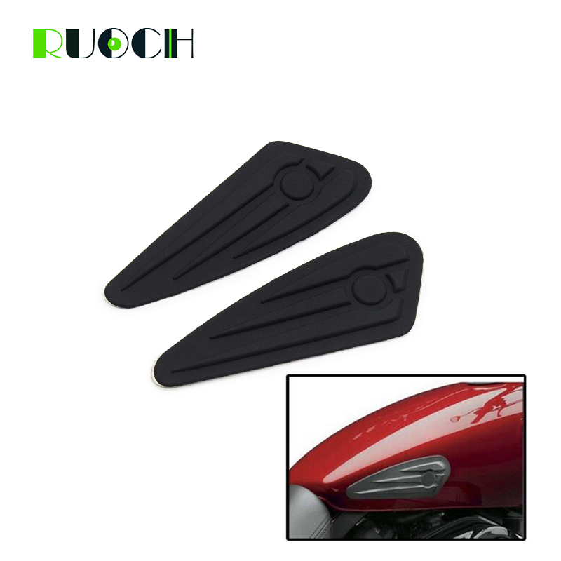 Motorcycle Knee Fuel Tank Pads Stickers For Harley Sportster XL883 1200 Dyna Softail Slim Street 500 750 XG500 XG750 Fat Boy 48 in Covers Ornamental Mouldings from Automobiles Motorcycles