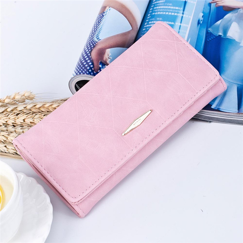 Hot Sale Clutches Wallets Women Solid Hasp Coin Purse Long Wallet Card Holders Handbag Candy Color Portefeuille Femme #3 women purse solid color mini grind magic bifold leather wallet card holder clutch women handbag portefeuille femme dropshipping