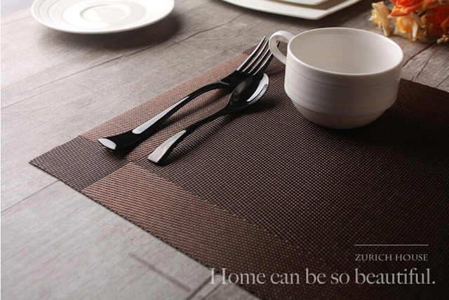 3pcs Brown Grey and Gold Placemats for Dining Table TPM-02