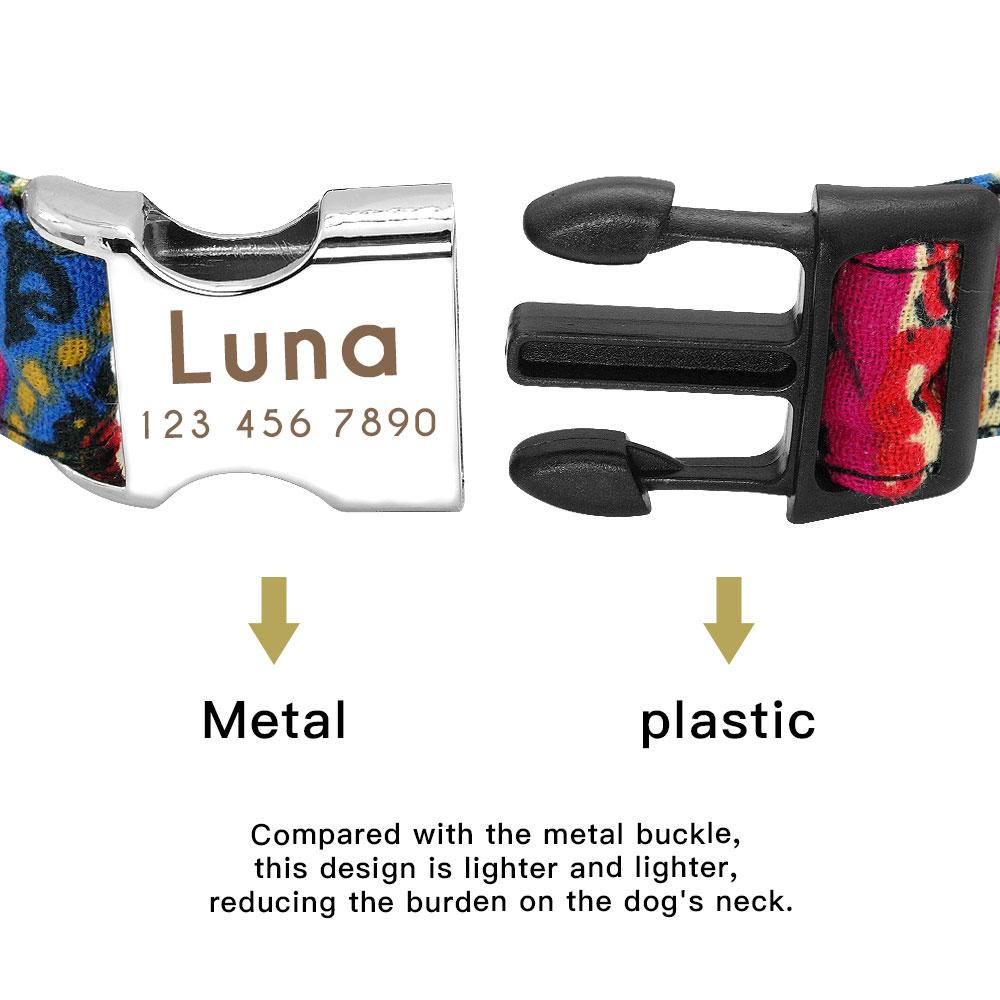 Collar personalizado de Nylon para mascota 10