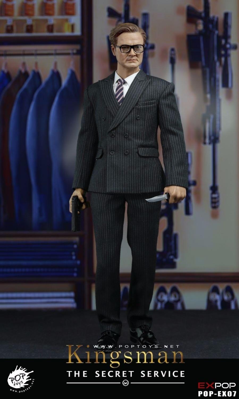 EX07 1/6 Scale Kingsman Seceret Service Male Action Figure Gentleman Full Set 12 Collectible Model Toys action ex