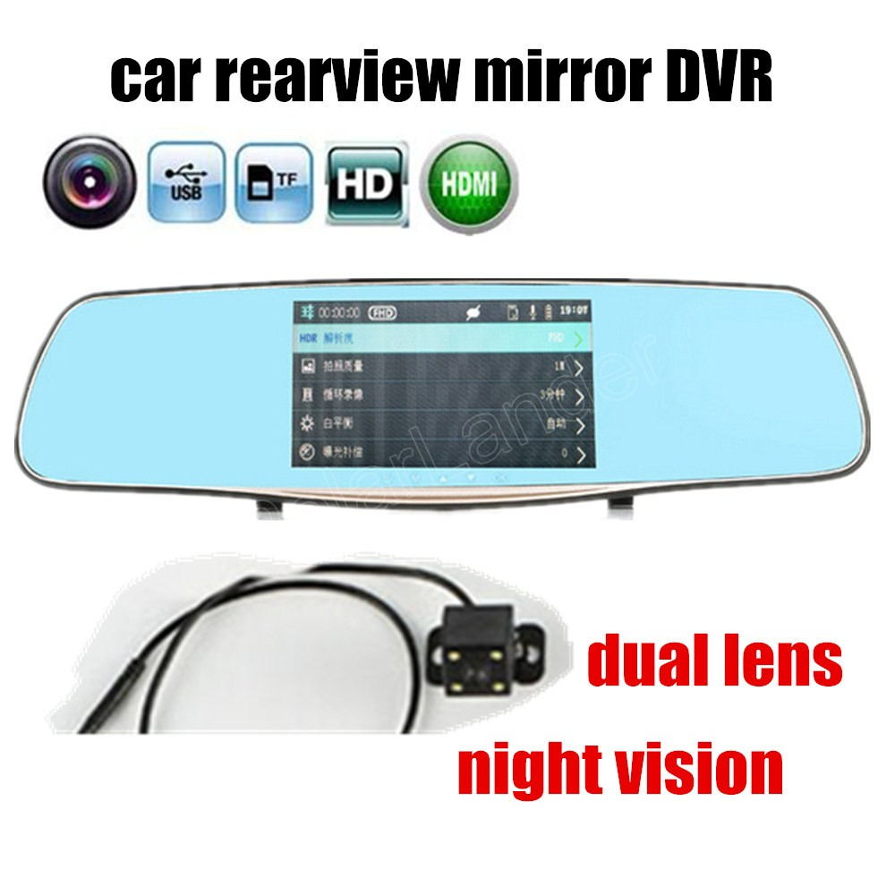 Rearview-Mirror Car-Camera Night-Vision 1080P HD 5inch With New-Arrival