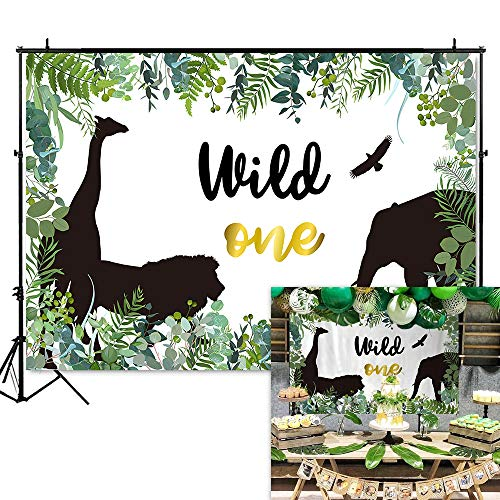 King of The Jungle Backdrop Safari Jungle 1st Birthday Background Vinyl Wild One Birthday Party Banner BackdropsKing of The Jungle Backdrop Safari Jungle 1st Birthday Background Vinyl Wild One Birthday Party Banner Backdrops